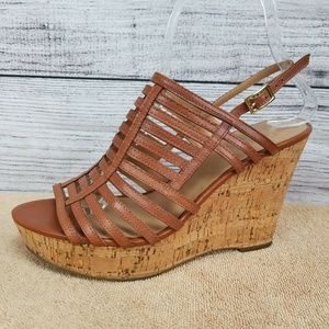 Franco Sarto Strappy Sandals Platform Wedge Heels
